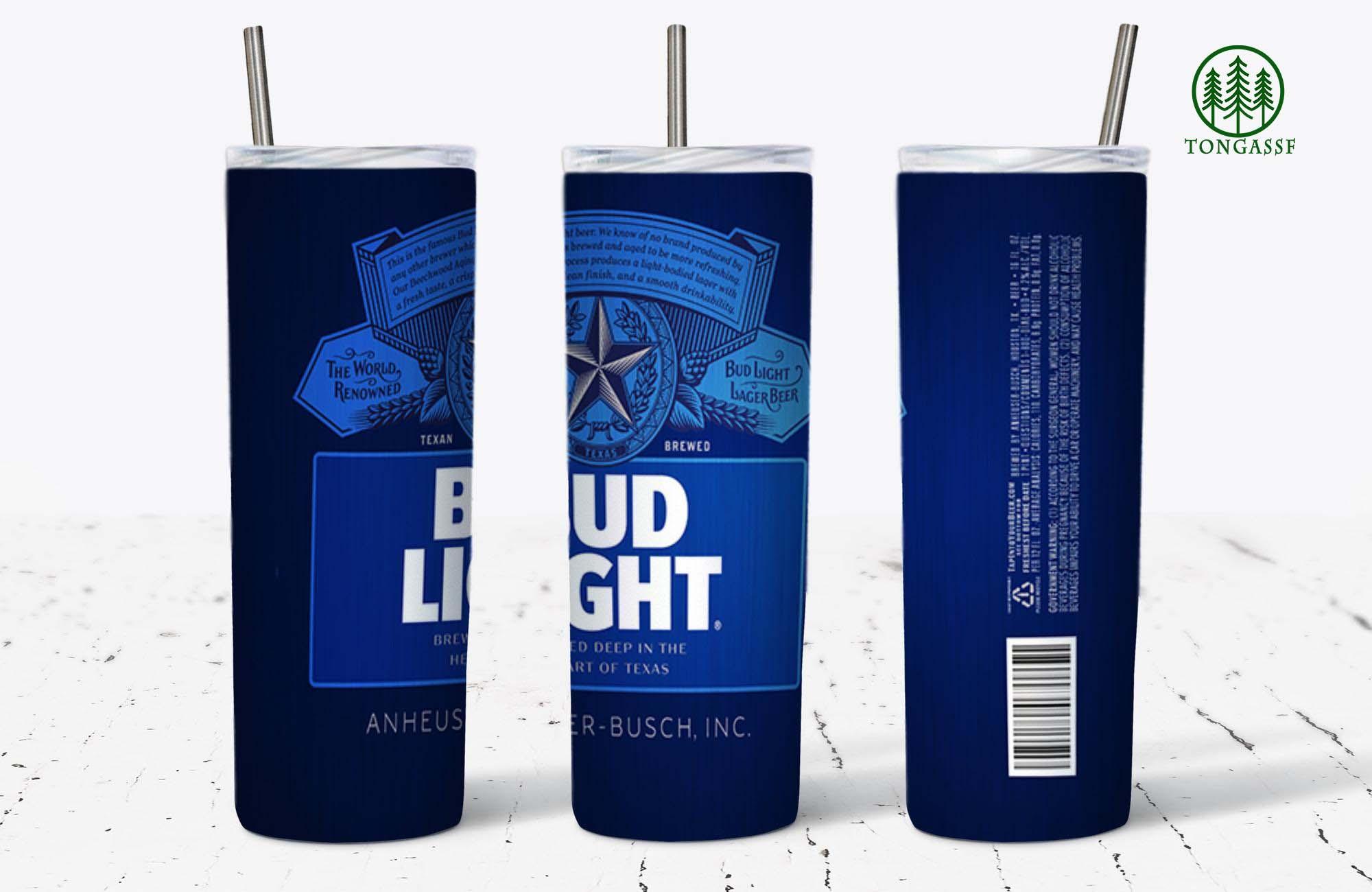 Bud Light Skinny Tumbler