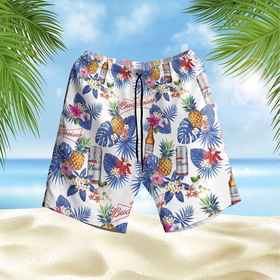 Budweiser beer Flower Hawaiian Outfit