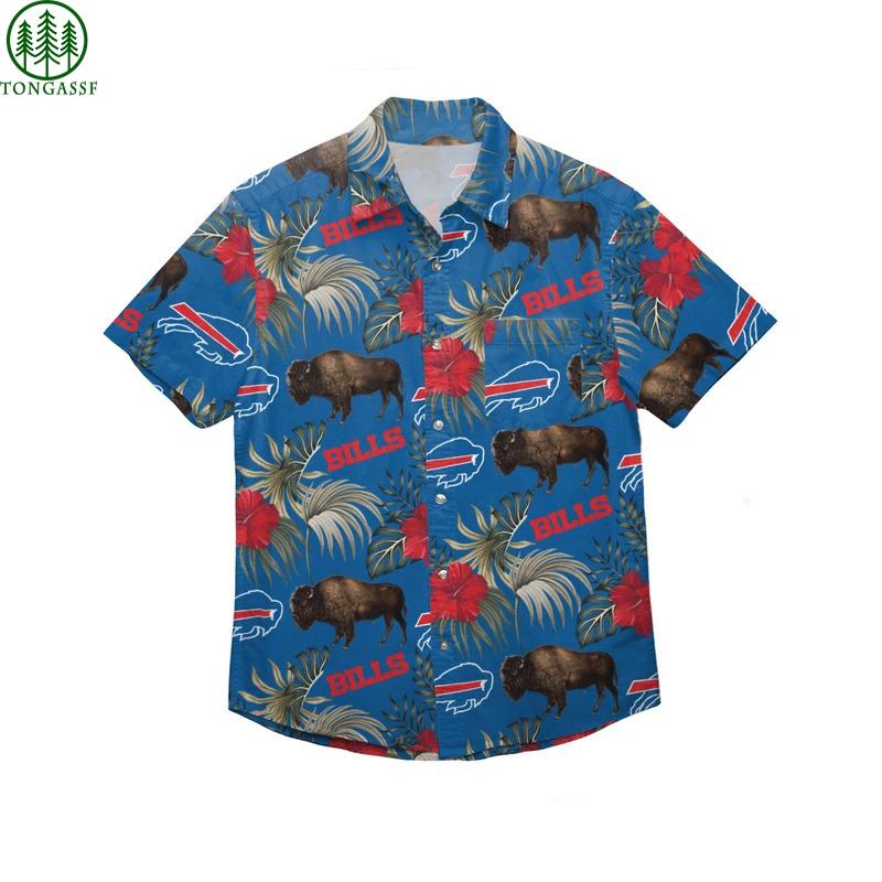 Buffalo Bills NFL Wildlife Button Up Hawaiian Shirt