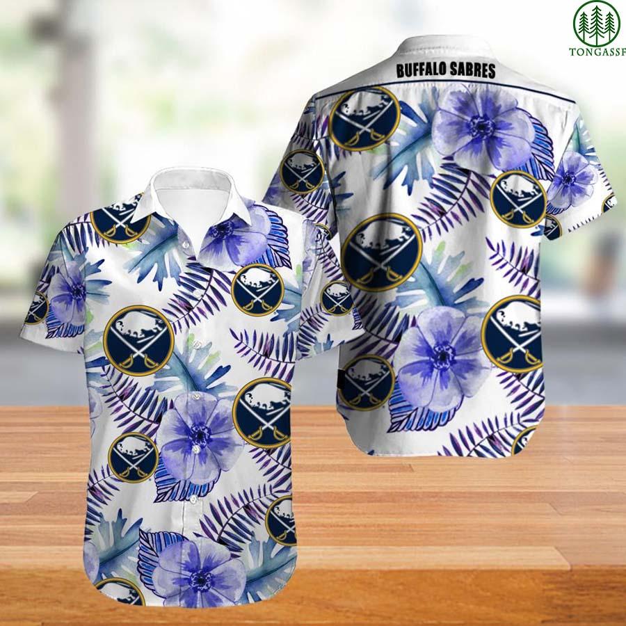 Buffalo Sabres Hockey Floral Hawaiian Shirt