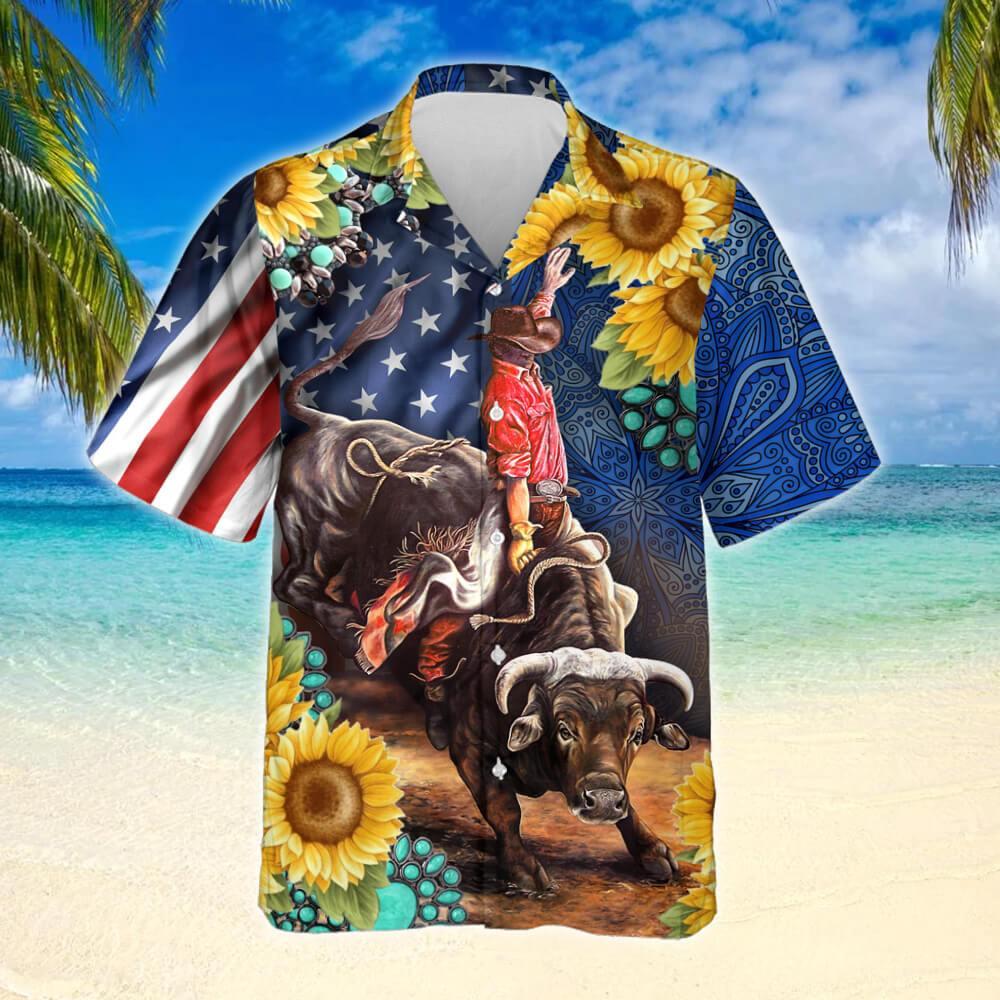 Bull Rodeo Sunflower Shirt 2
