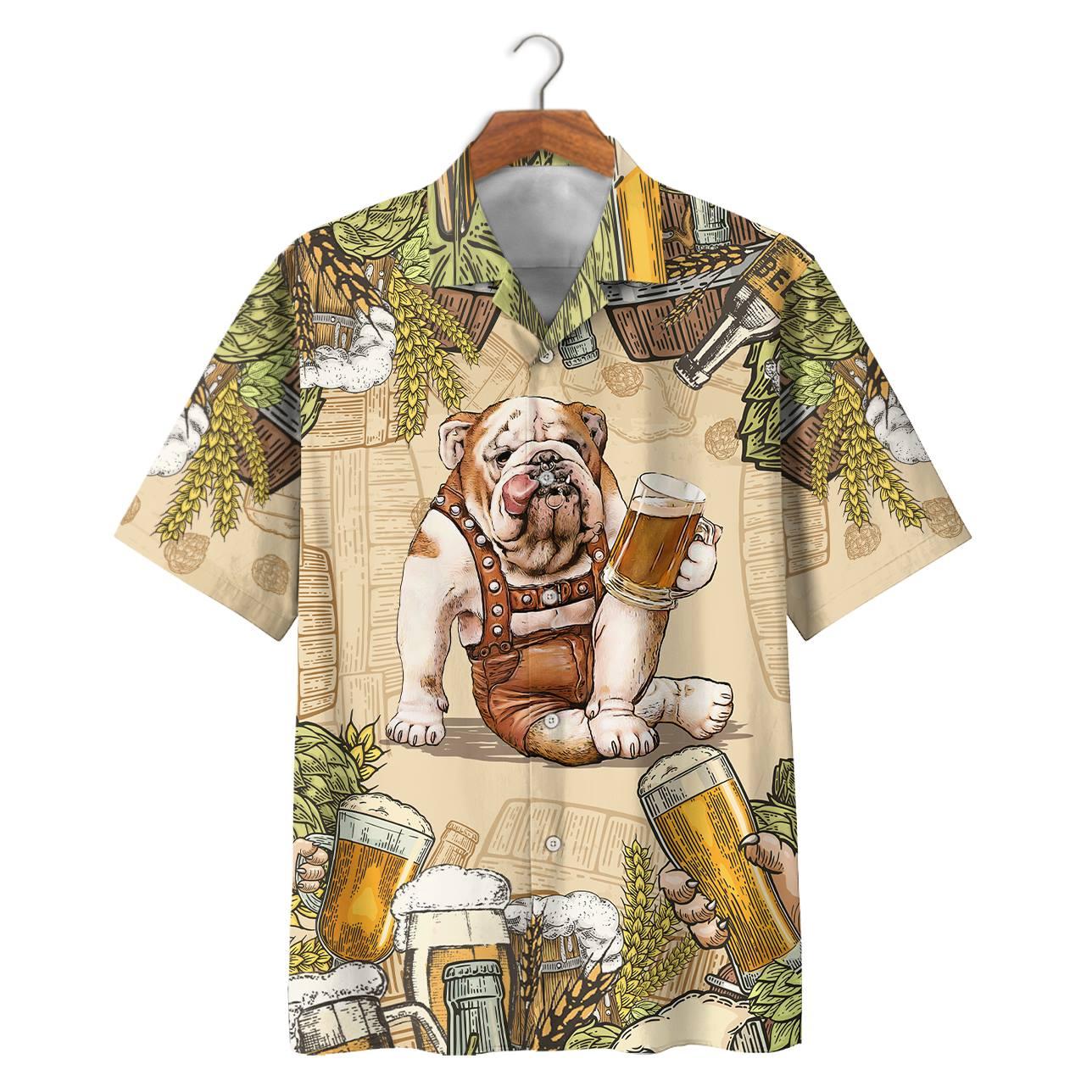 Bulldog Beer Hawaiian Shirt