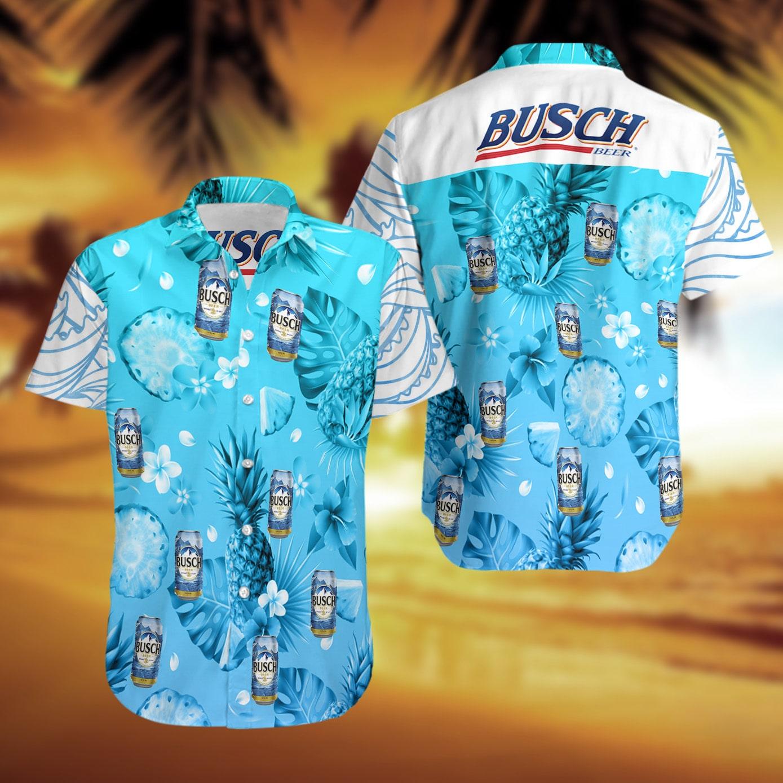 Busch Light Beer pineapple Hawaiian Shirt