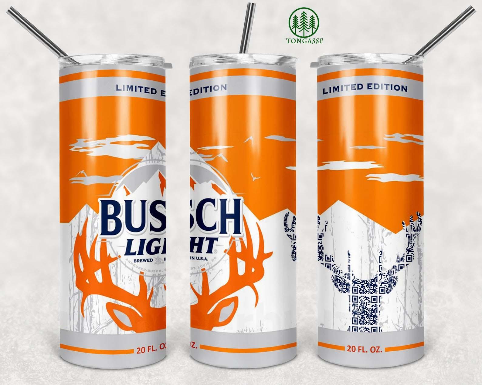Busch Light Deer Beer Skinny Tumbler