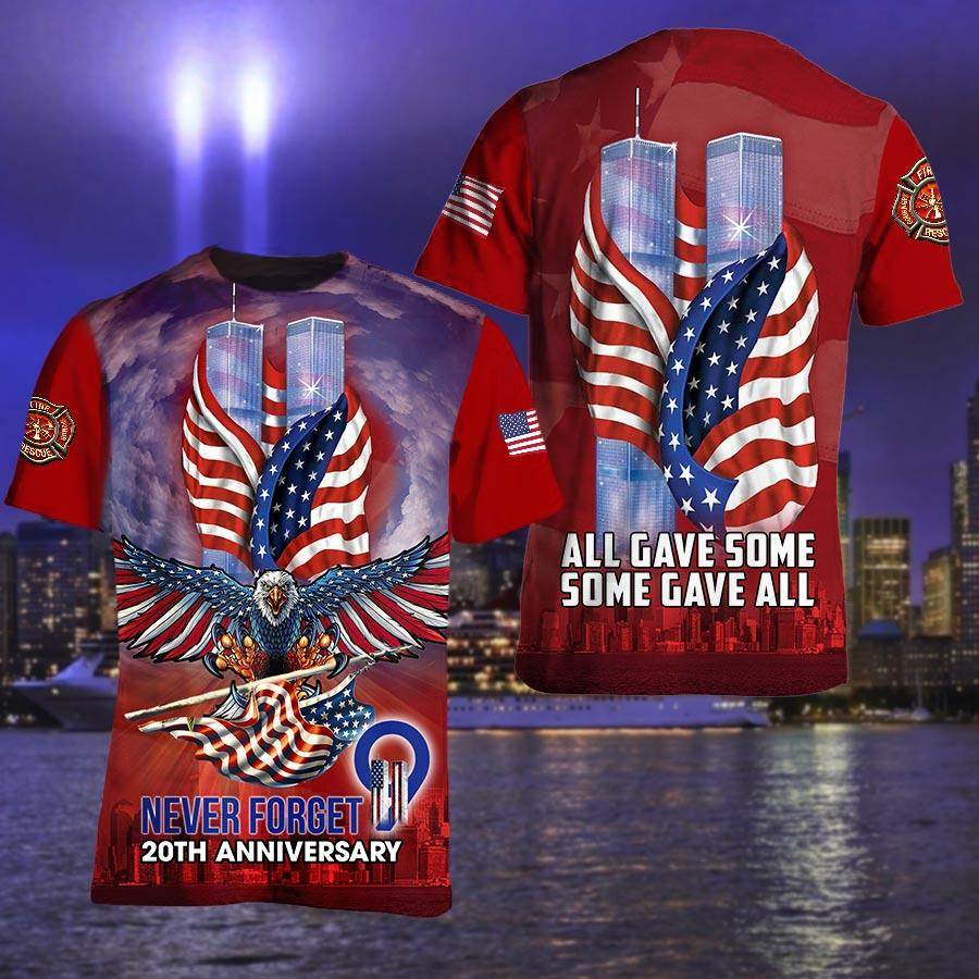 September 11 Attacks Never Forget All gave some 3D T Shirt
