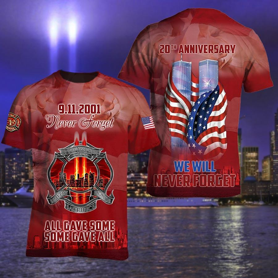 September 11 Attacks Remember Never Forget Twin Towers Hoodie 3D