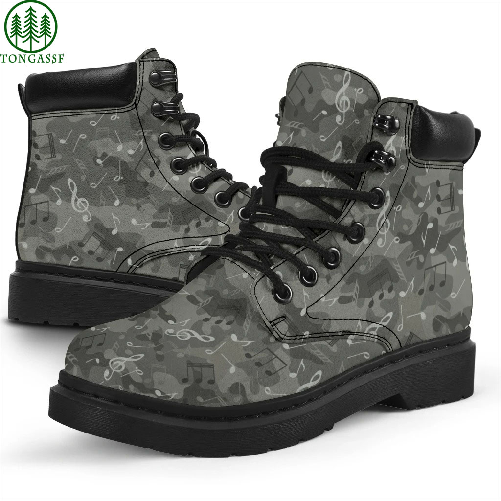 Camo Music Notes Hot Boots
