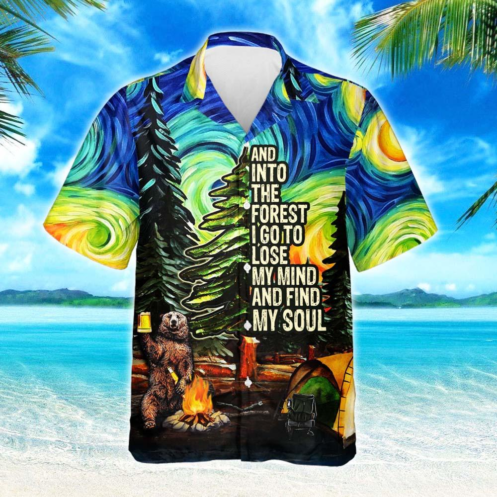 Camping Starry Night Hawaiian Shirt 2