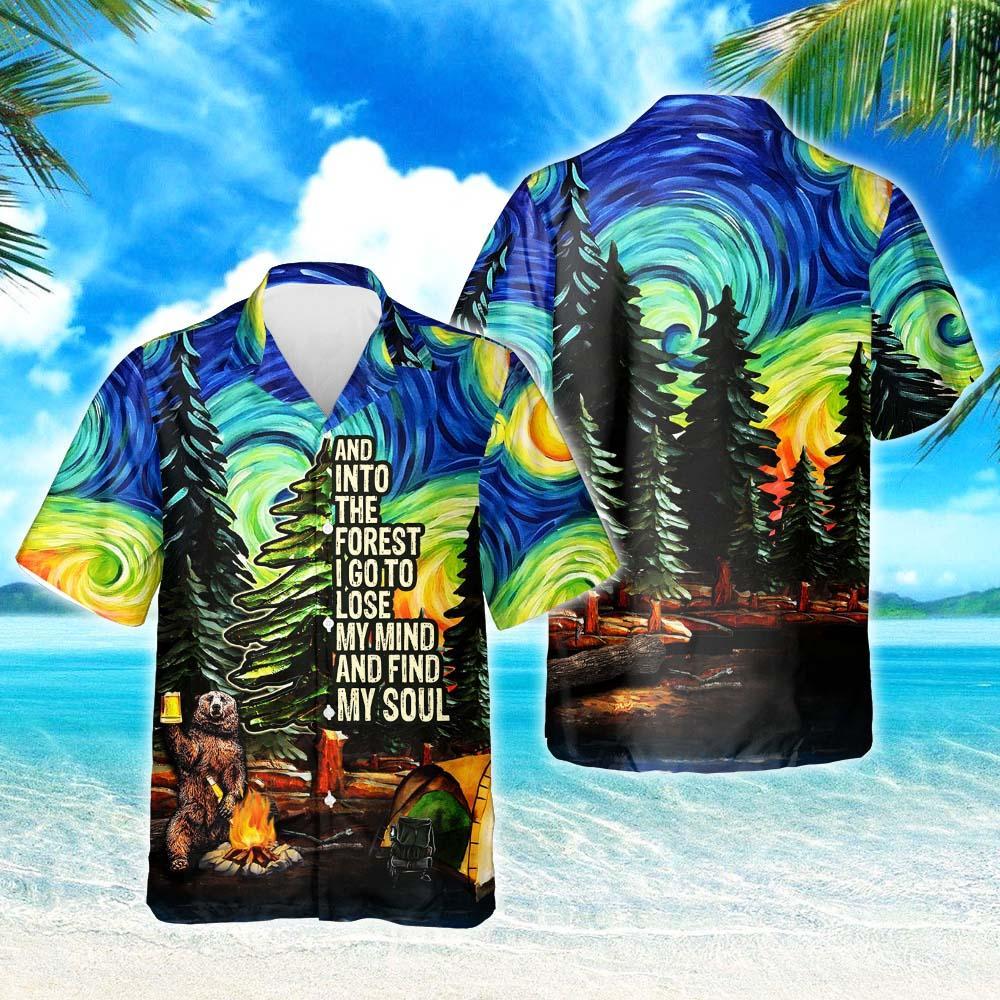 Camping Starry Night Hawaiian Shirt