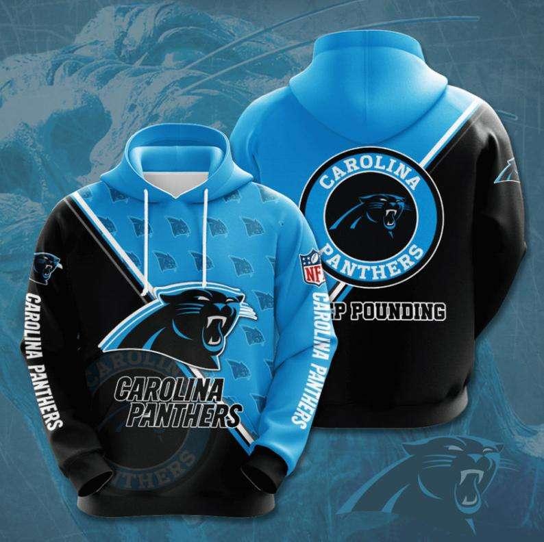 Carolina Panthers NFL logo 3D Hoodie