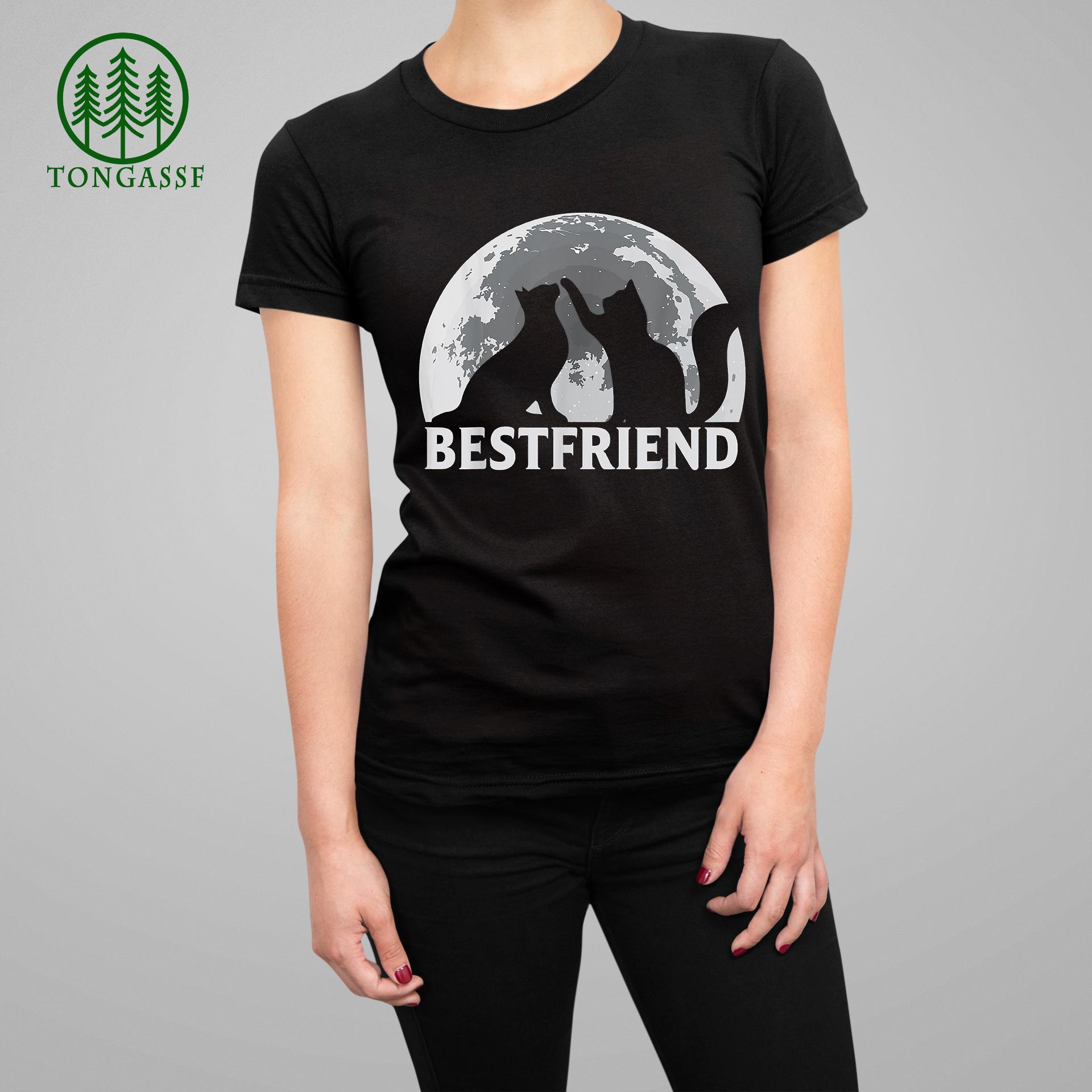 Cat Best Friend Forever Moon International Day of Friendship T Shirt