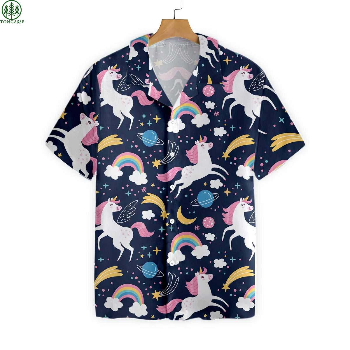 Cheerful Unicorn Hawaiian Shirt