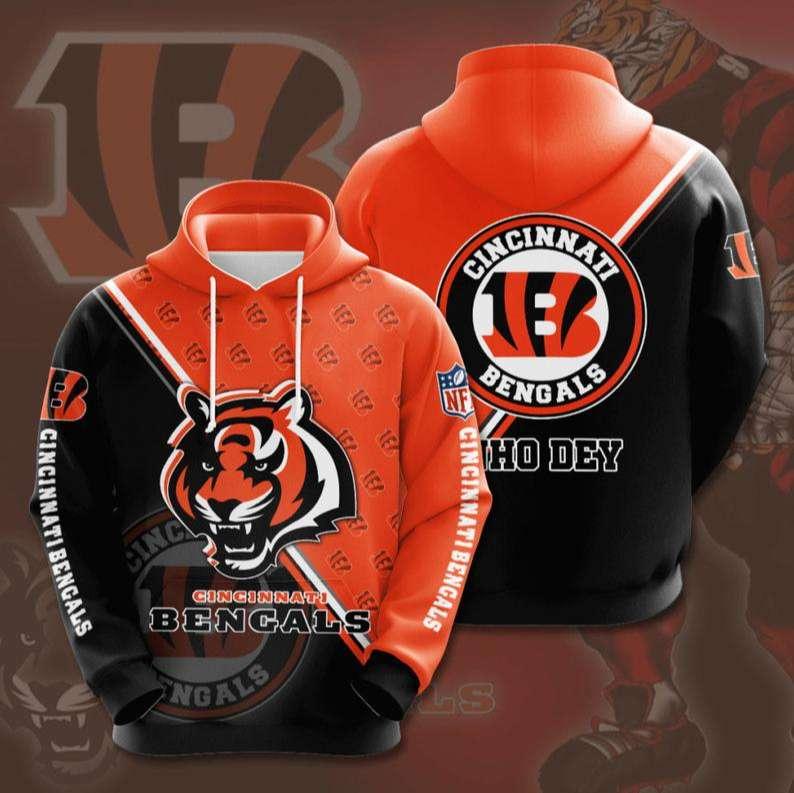 Cincinnati Bengals NFL 3D Hoodie