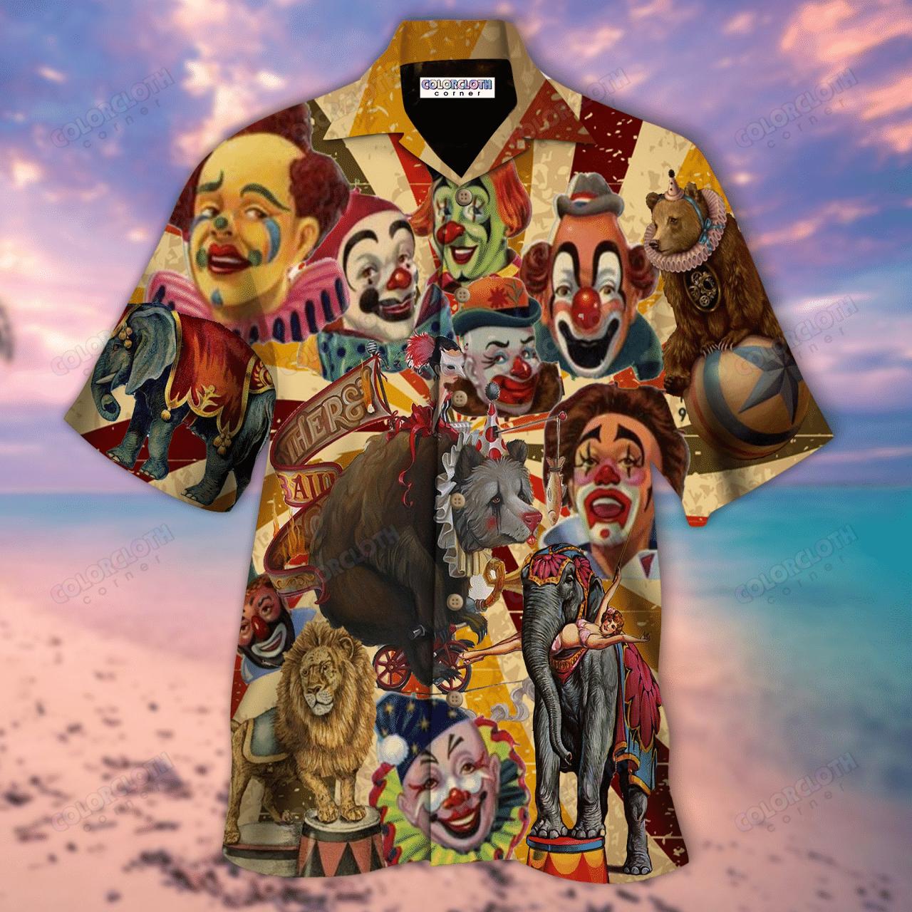 Clown Circus Hawaiian Shirt
