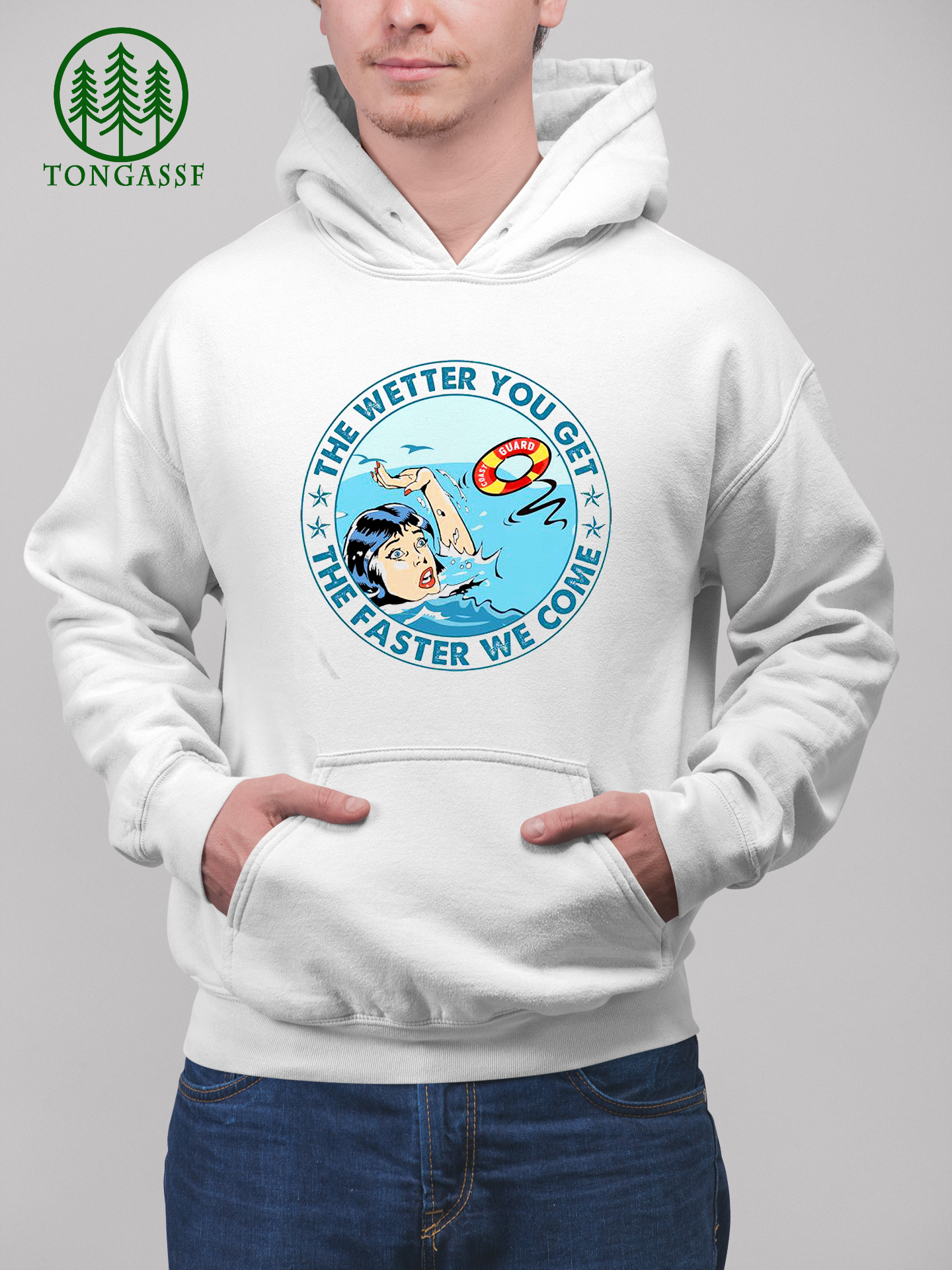 Coast Guard The wetter you get the faster we come Shirt
