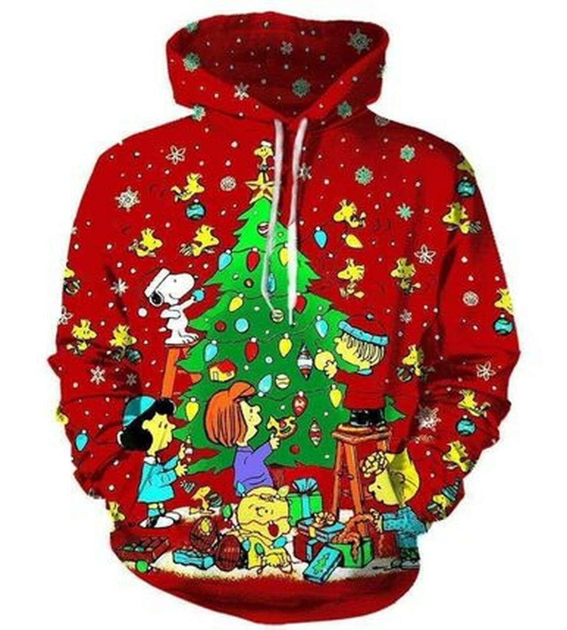 Cool Custom Hoodie Snoopy Christmas Peanuts 3D Hoodie