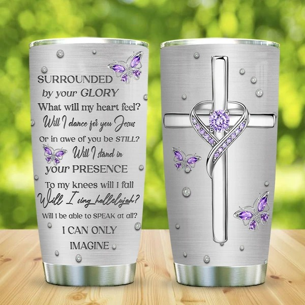Cross Butterfly Jewelry Faith tumbler