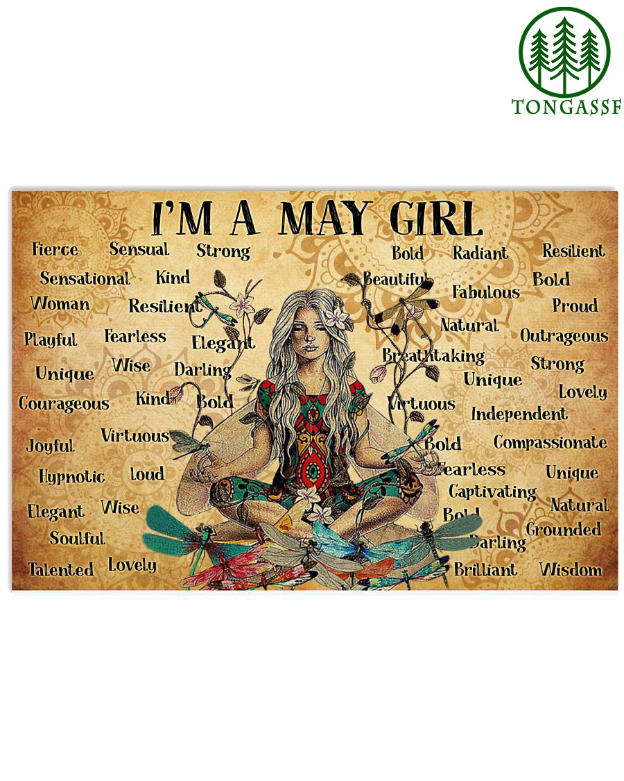 Custom Birth Month Girl I am yoga poster