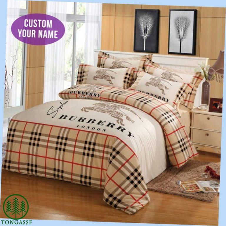 Custom Name Burberry London Bedding set
