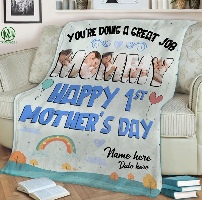 Custom You are Doing A Great Job Mommy Cozy Fleece Blanket