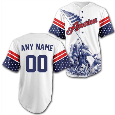 Custom Team America soldiers Baseball Jersey Shirt