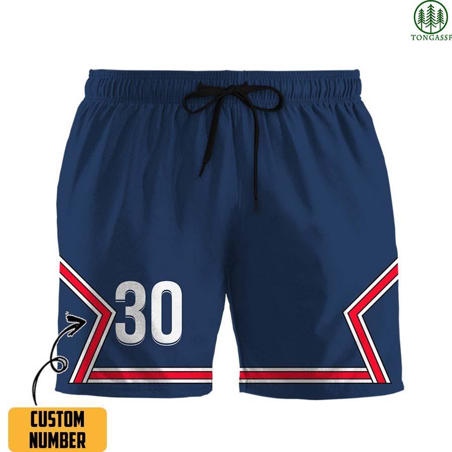 Custome Number Paris Saint Germain baseball Hawaiian Men short