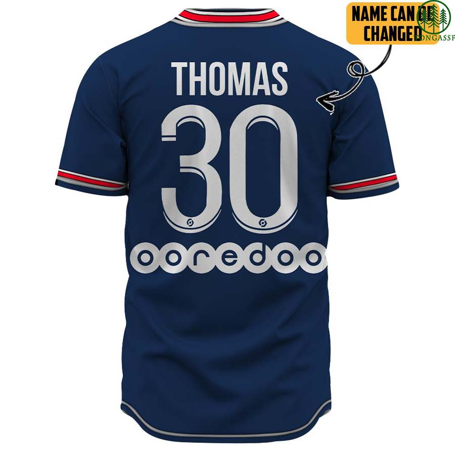 Customer Name Paris Saint Germain 30 baseball jersey shirt