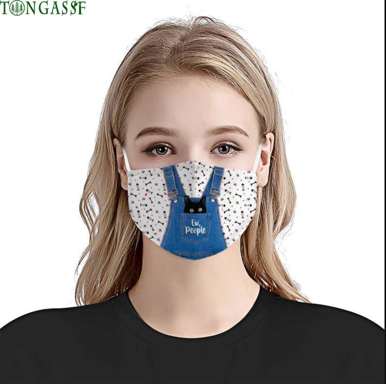 Cute Cat Ew Face Mask
