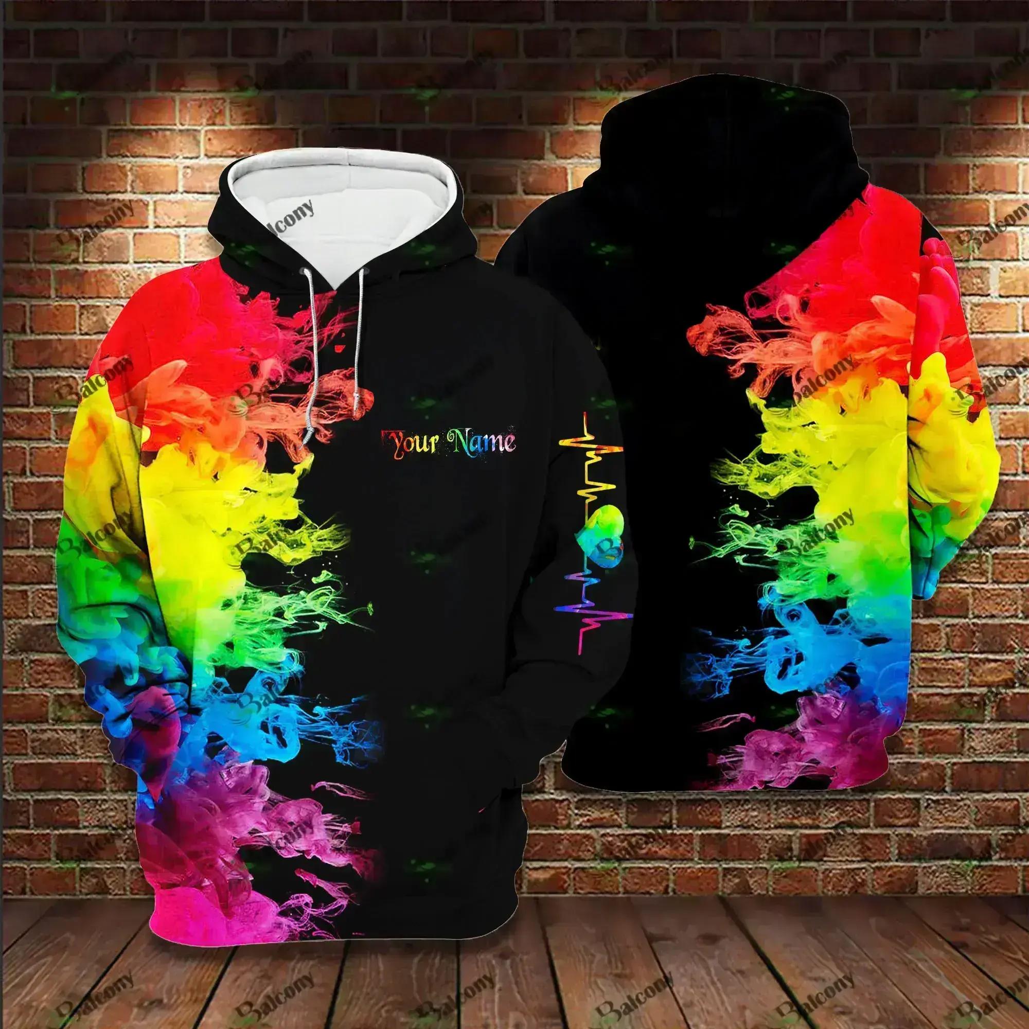 Custom Lgbt Color Fade Pride Hoodie 3D