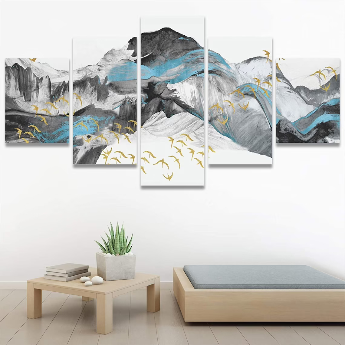 Painting Moutain 5 piece wall art