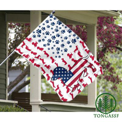 Dachshund American house flag