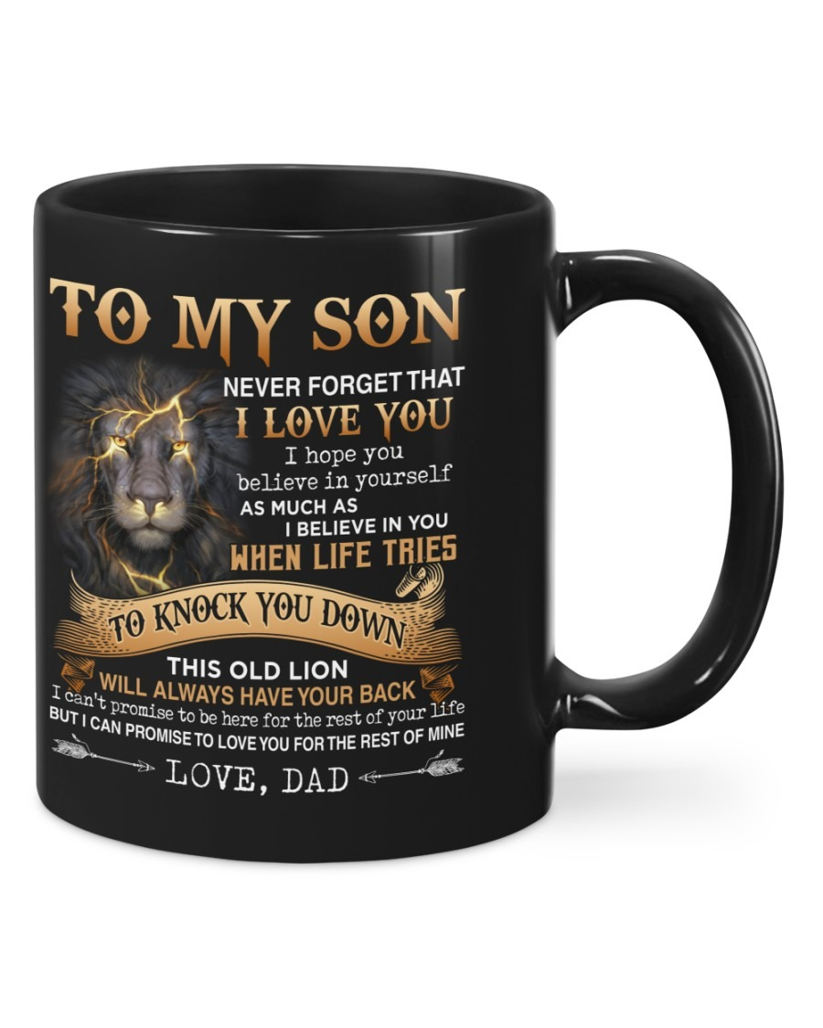 Dad Gift Old Lion To My Son Mug