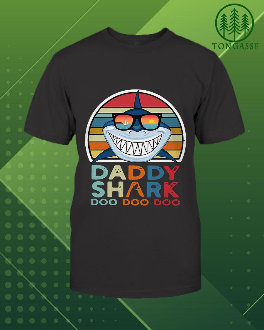 Daddy Shark Doo Doo Doo Papa Cool Gift Shirt