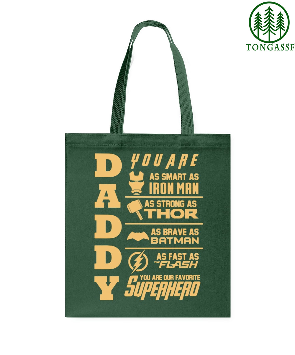 Daddy you are my superhero tote bag
