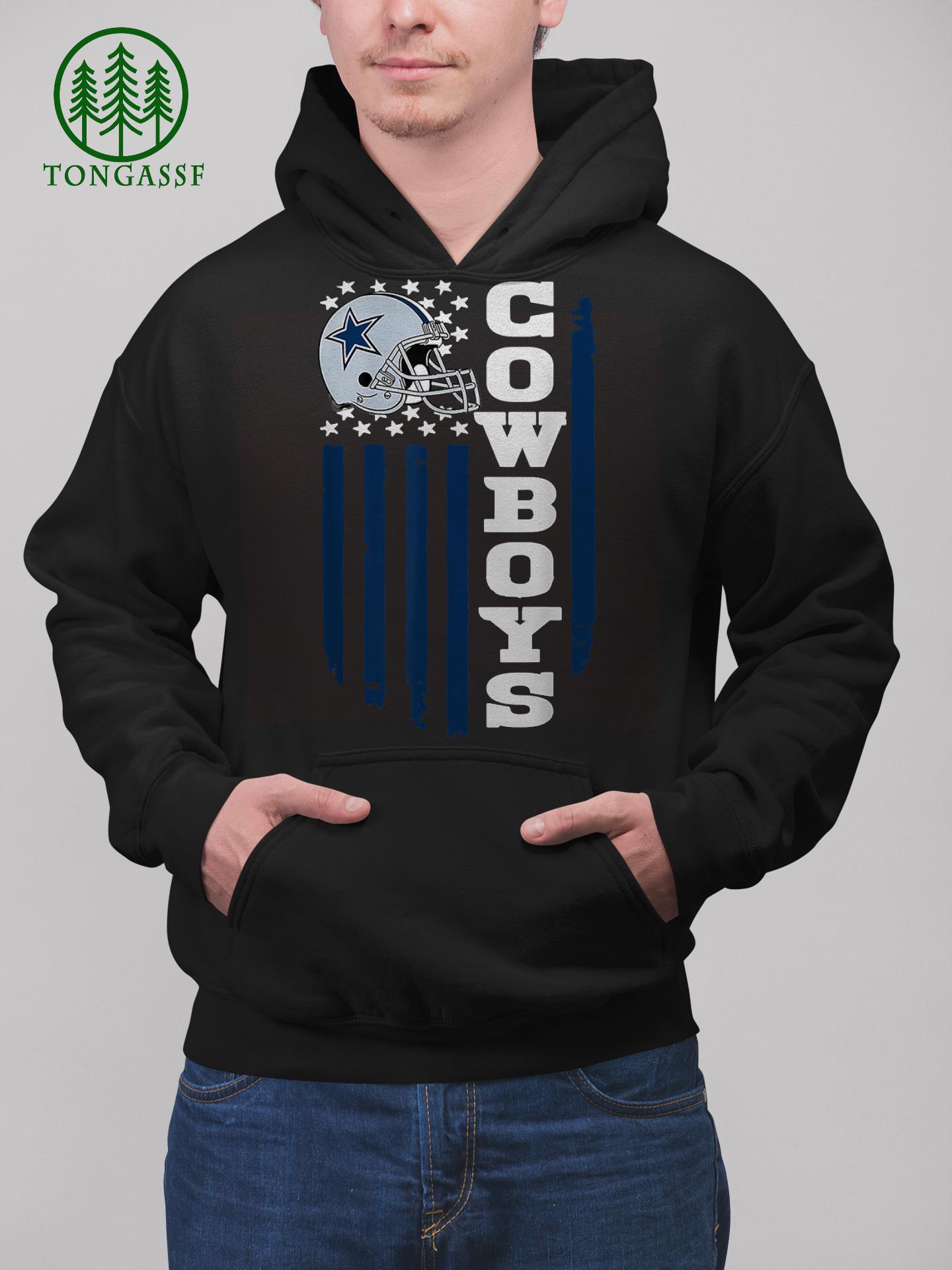 Dallas Cowboys Fan 4th of July America Flag hoodie