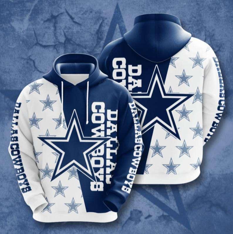 Dallas Cowboys Jersey NFL Football 3D Hoodie