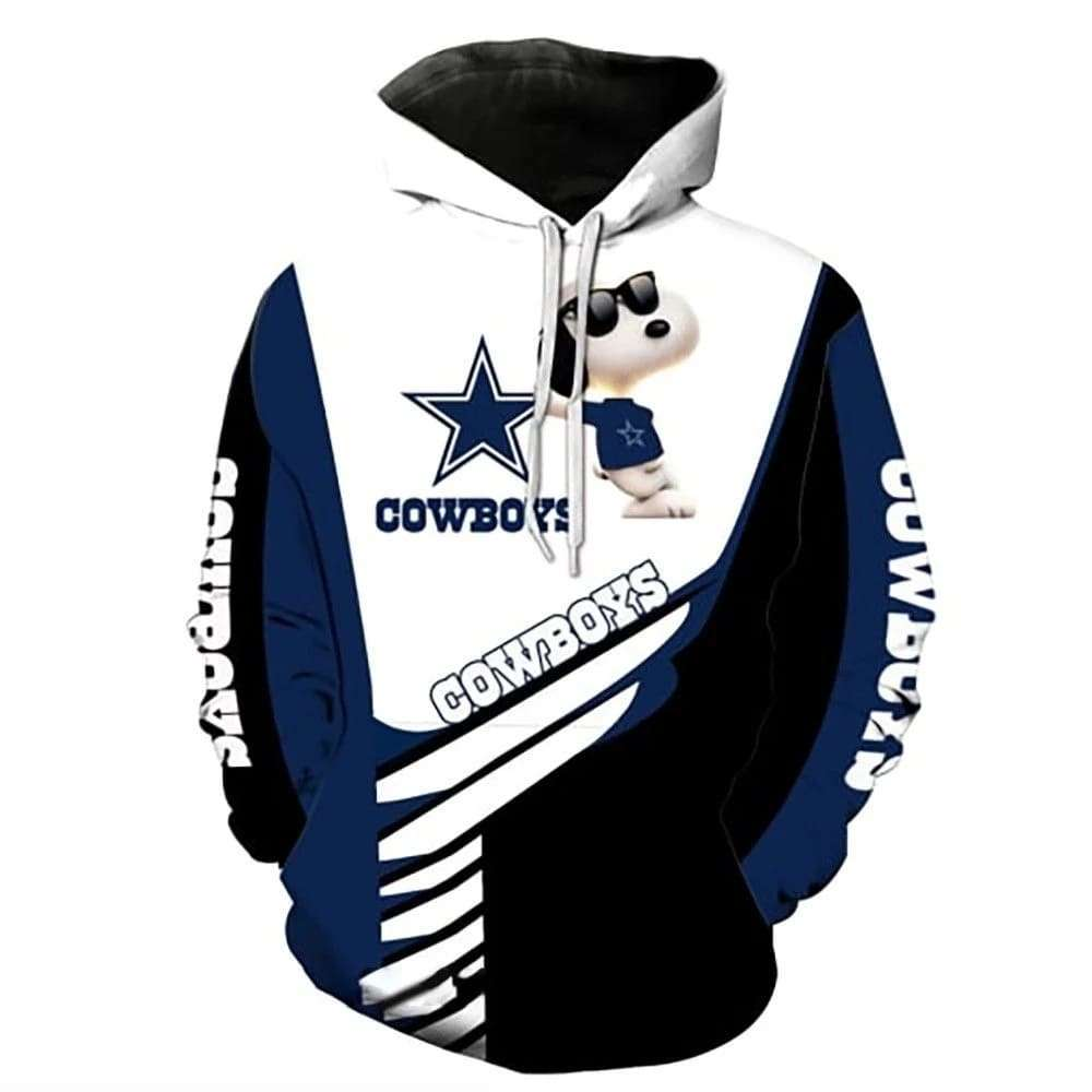 Dallas Cowboys NFL Snoopy Peanuts 3D Hoodie