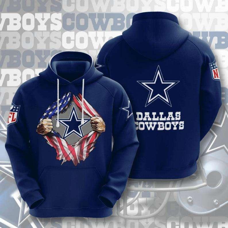 Dallas Cowboys Pride of Dallas NFL Football 3D Hoodie