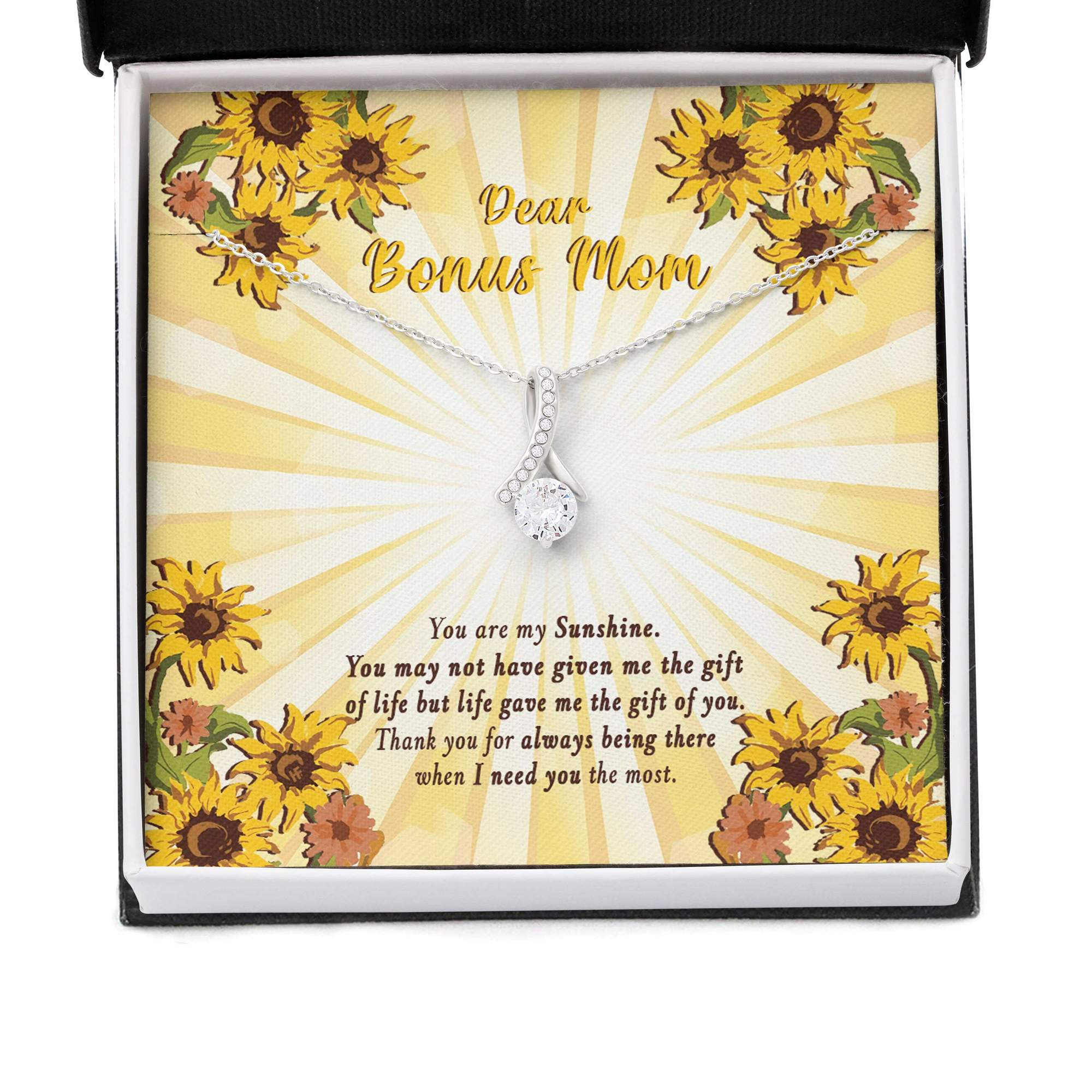 Dear Bonus Mom You Are My Sunshine Alluring Necklace 2
