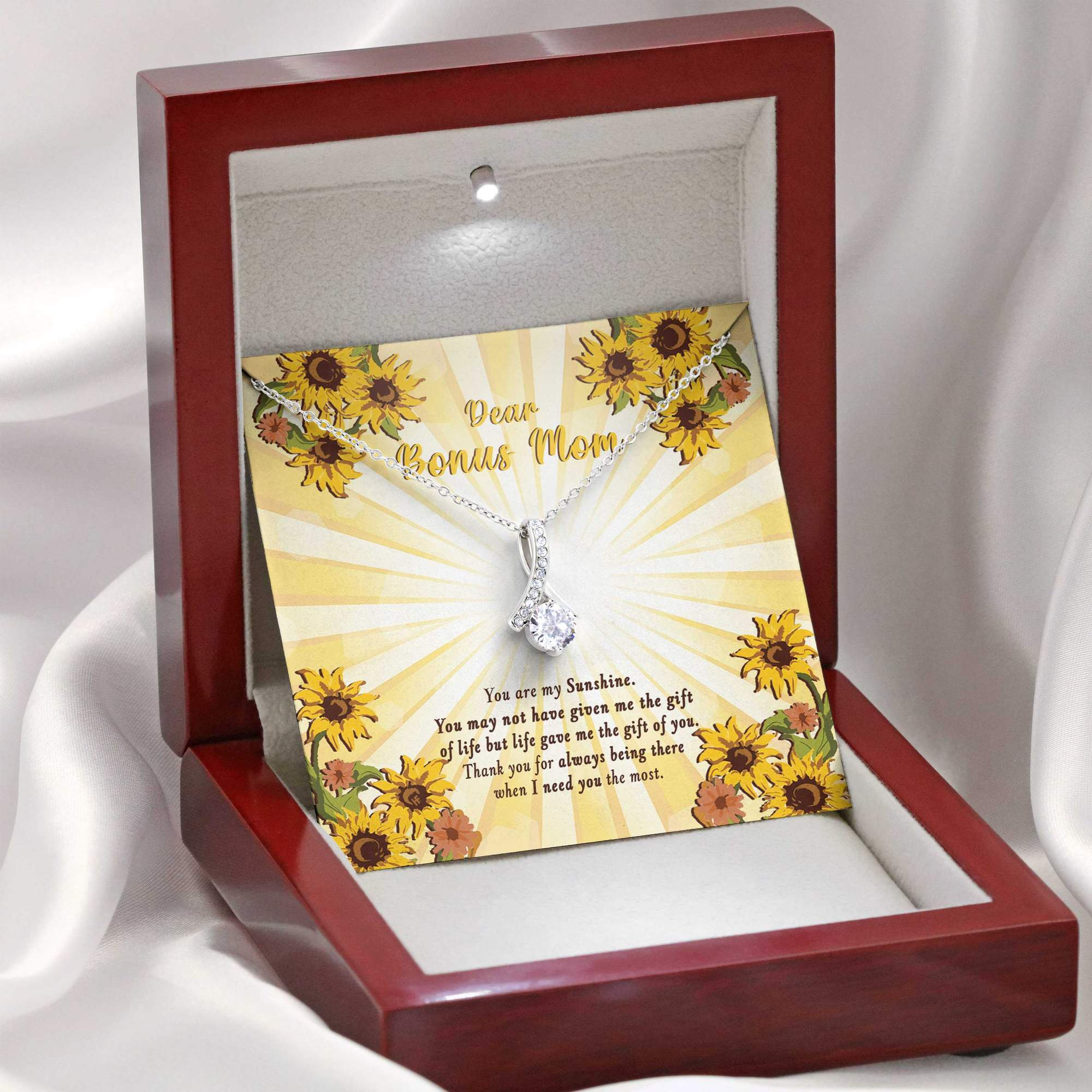 Dear Bonus Mom You Are My Sunshine Alluring Necklace