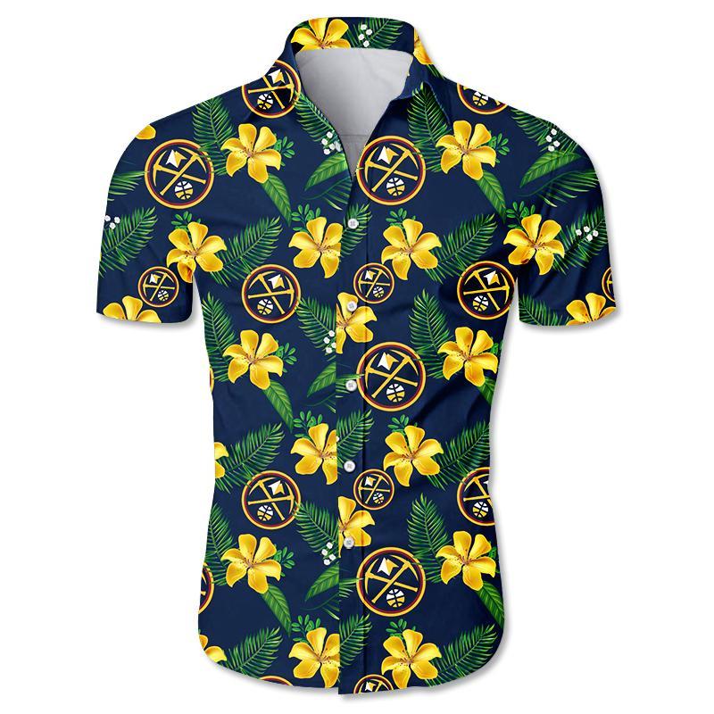 NBA Denver Nuggets Floral Hawaiian Shirt Small Flowers