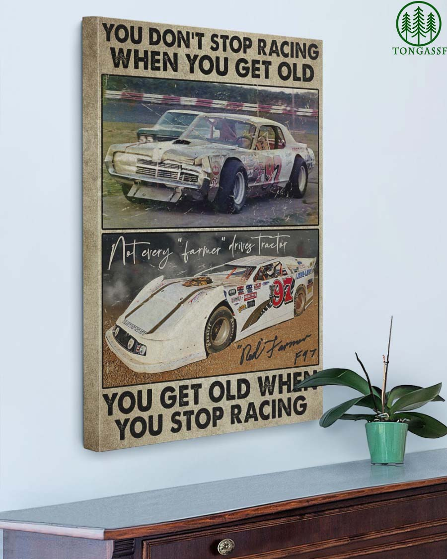 Dirt Track Racing You Don't Stop Racing Gallery Wrapped Canvas Prints