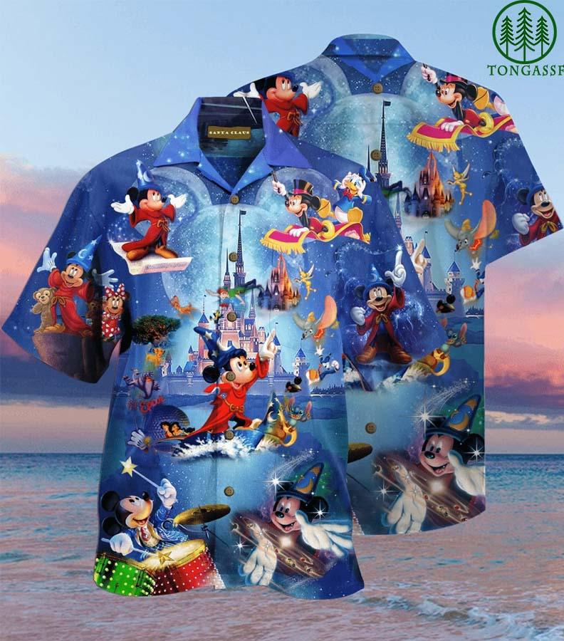 Disney wonderful worlds Mickey magic Hawaiian Shirt