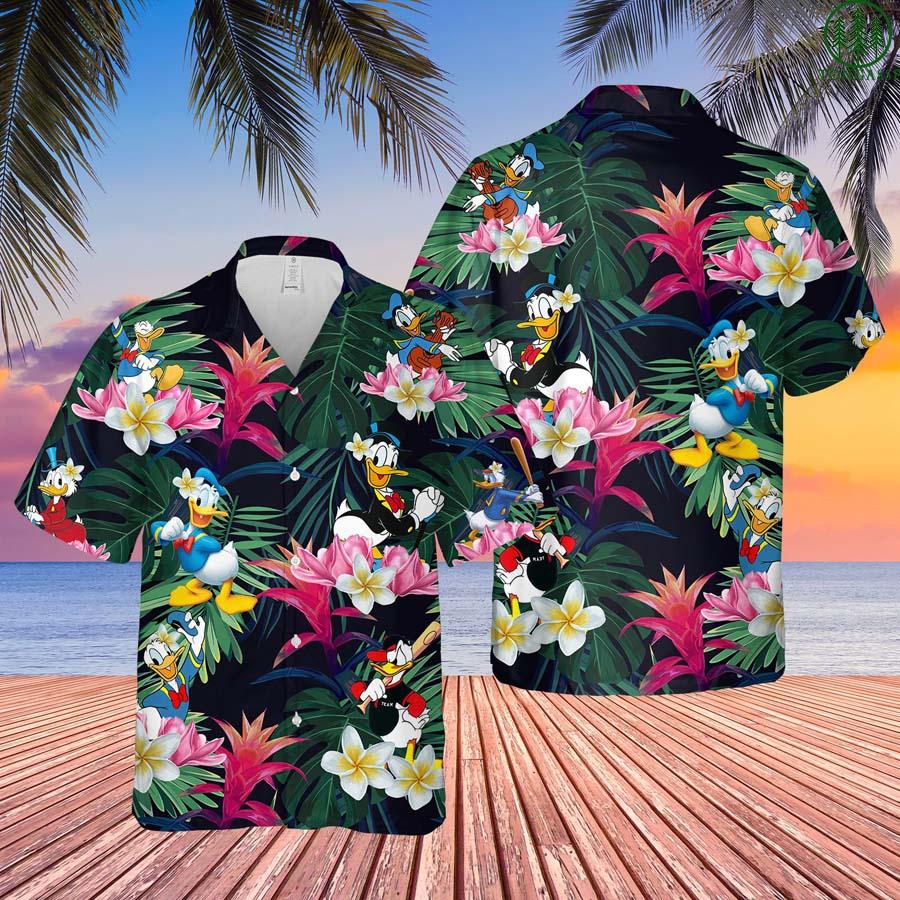 Donald Duck Hawaiian Shirt Button Up Shirt Summer