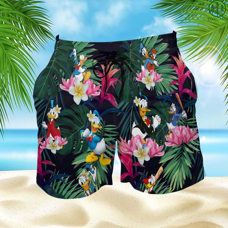 Donald Duck Hawaiian Shorts Summer Shorts