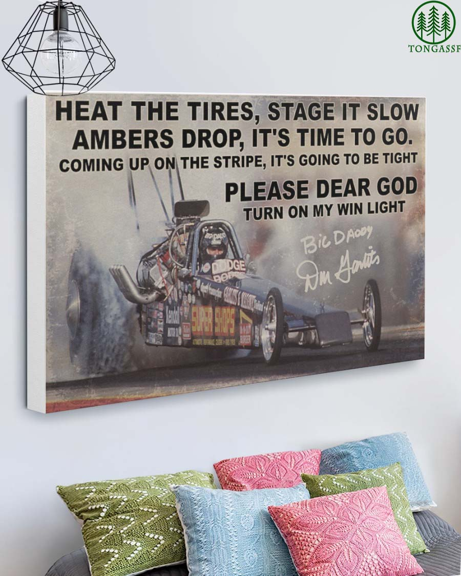 Drag Racing Turn on my win light Gallery Wrapped Canvas Prints