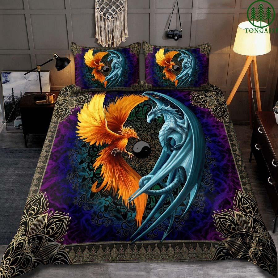 Dragon And Phoenix Bedding Set