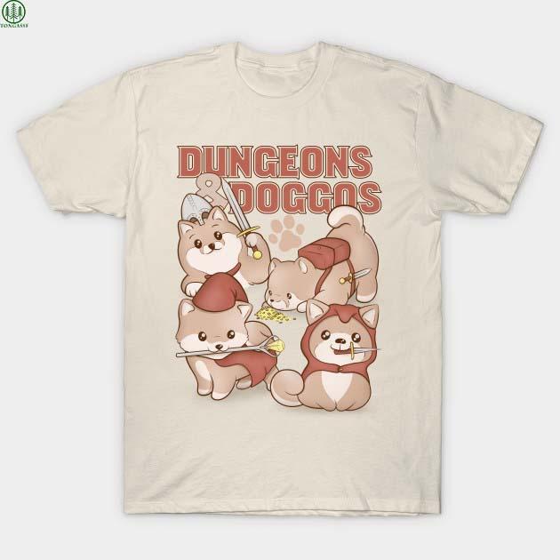 Dungeons Doggos shiba T Shirt
