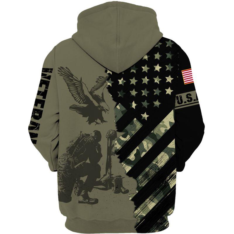 US ARMY VETERAN Flag 3D Shirt