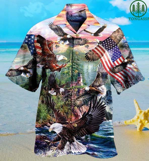 Eagle spirit of America Hawaiian Shirt
